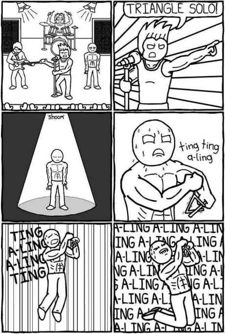 triangl, musician, solo, 9gag, funny, pic, comic, lol