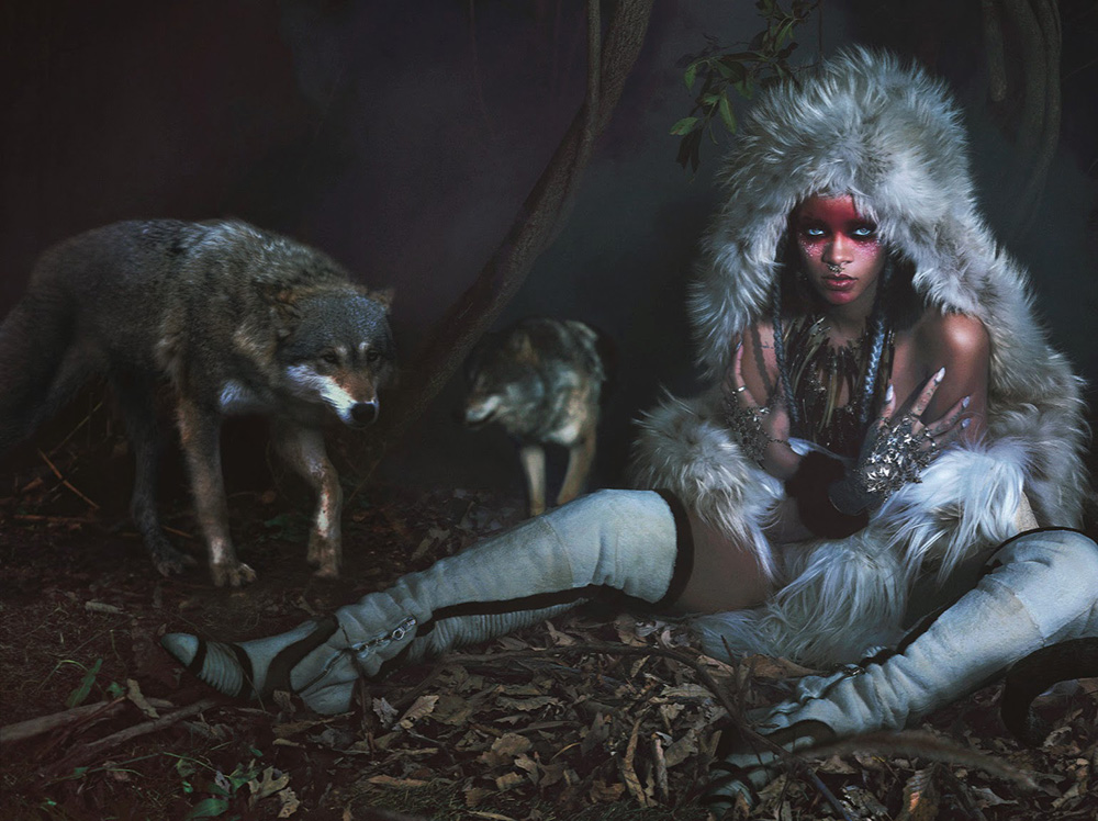rihanna, wild, wolves, w, magazine, editorial, september issue 2014
