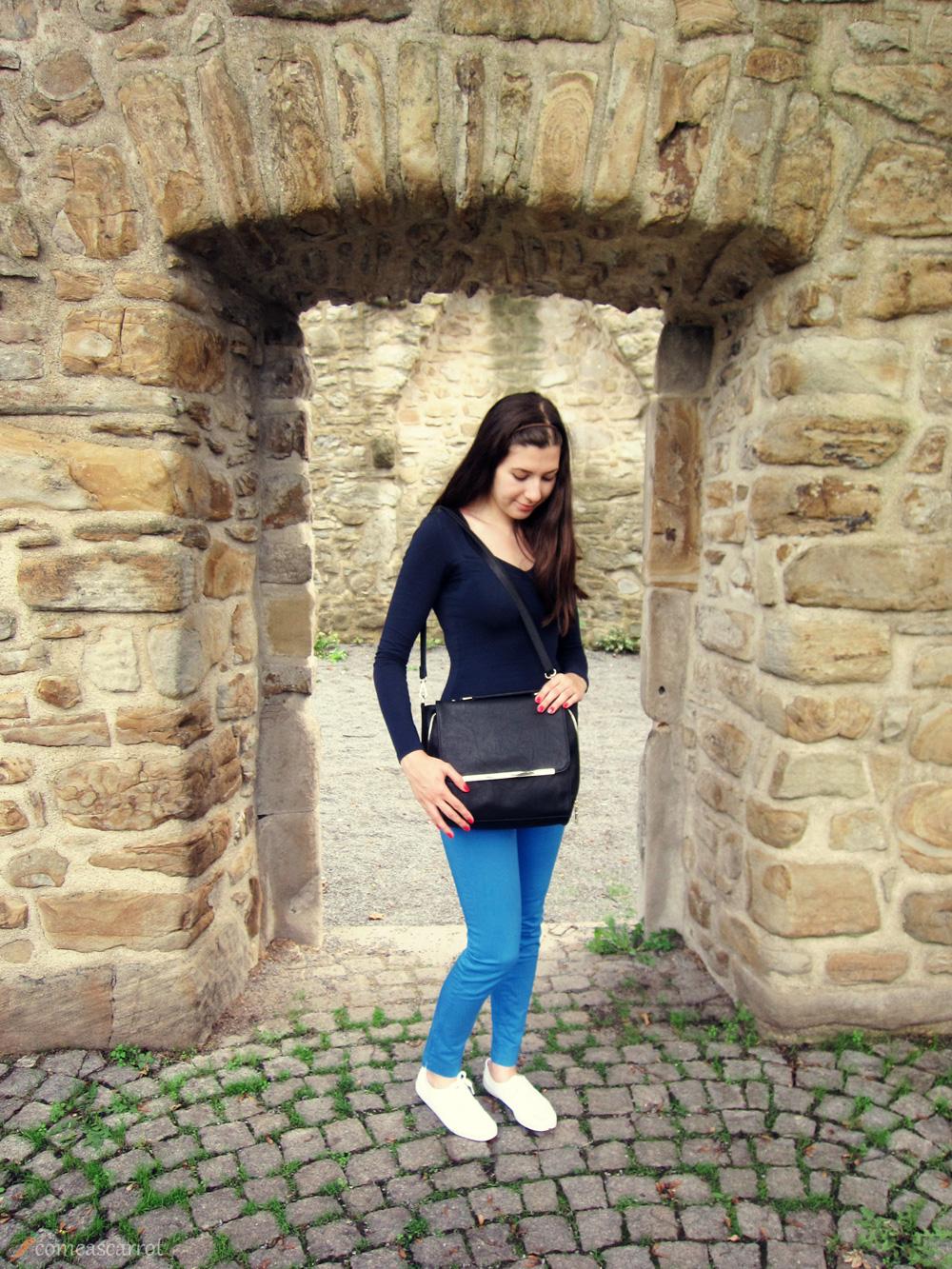 outfit, blue, ombre, shades, keds, zara, mango, italy, rome, burgaltendorf