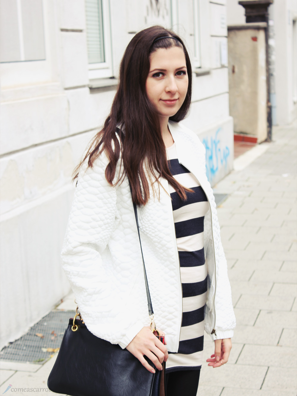 striped, stripes, trio bag, tom tailor, pistol boots, bomber jacket, bomberjacke, kleid, stiefeletten, münchen, munich, fashion, outfit