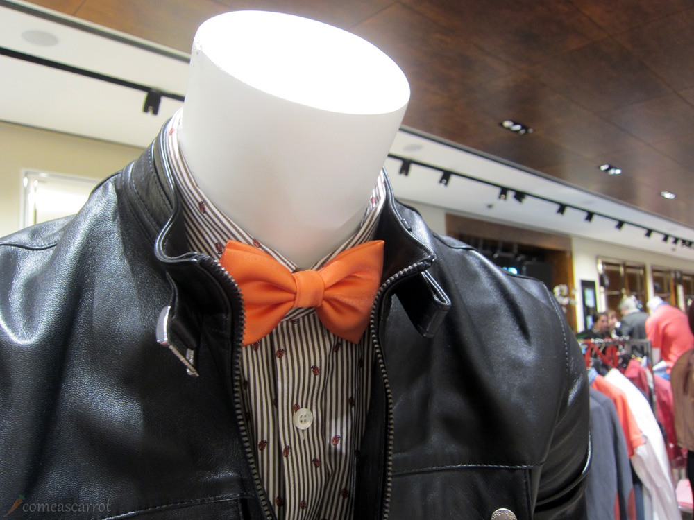 sarar, düsseldorf, fashion, bow tie, leather, jacket