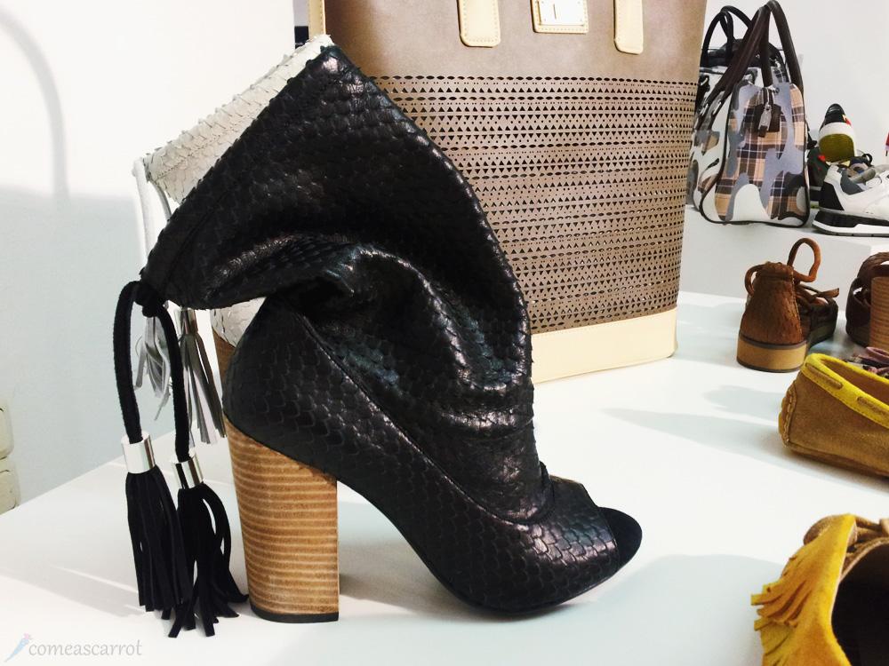 munich, münchen, press days, press open, fashion, shoes, geox, python, high heels, tassel