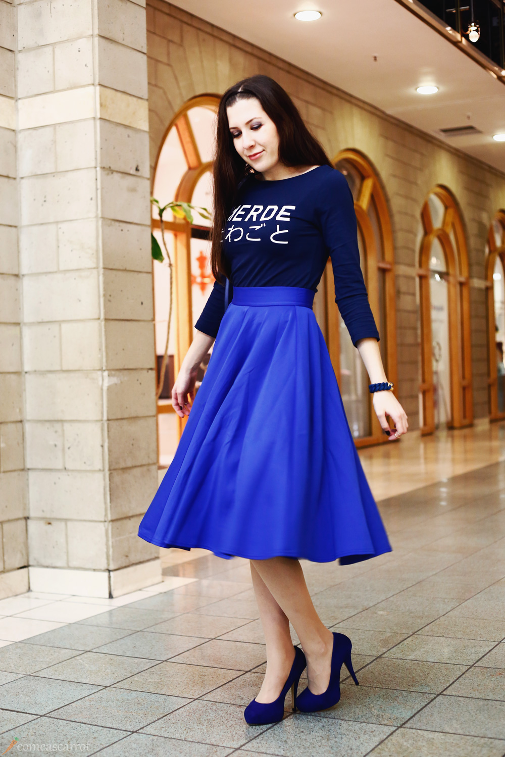 outfit, asos, midi, skirt, blue, benedetta bruzziches, lemon, bag, aldo, heels, mbfwb, lindengallerie, fashion week berlin, therubz