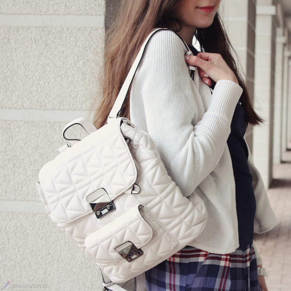 outfit, karl lagerfeld, kuilted, backpack, streetstyle, tokyo, tokio, check, essen city, köln bloggt