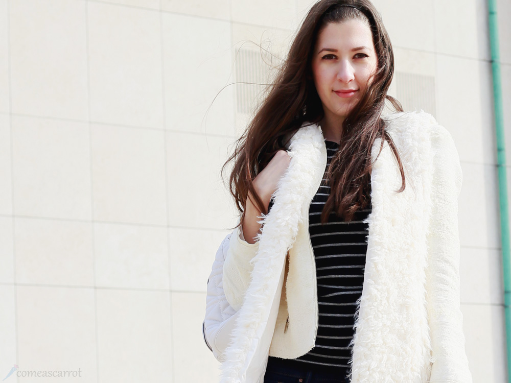 outfit, international womens day, karl lagerfeld, backpack, fluffy, teddy, vest