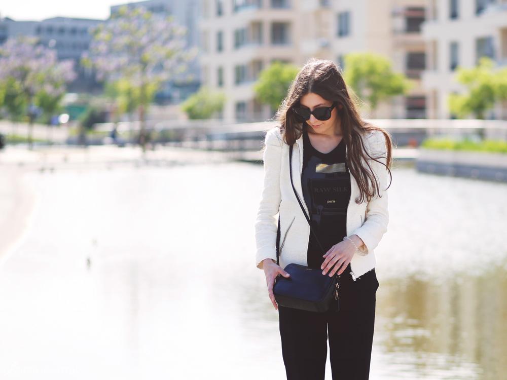 outfit, zara, jacke, blazer, harem hose, espandrilles, chanel, ähnlich, joop, büro, business
