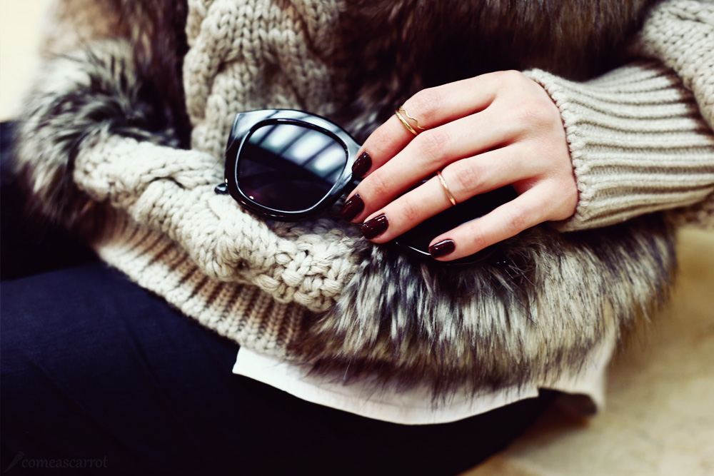 fashion blog, beauty, nail polish, dior, knuckle ring, sunglasses