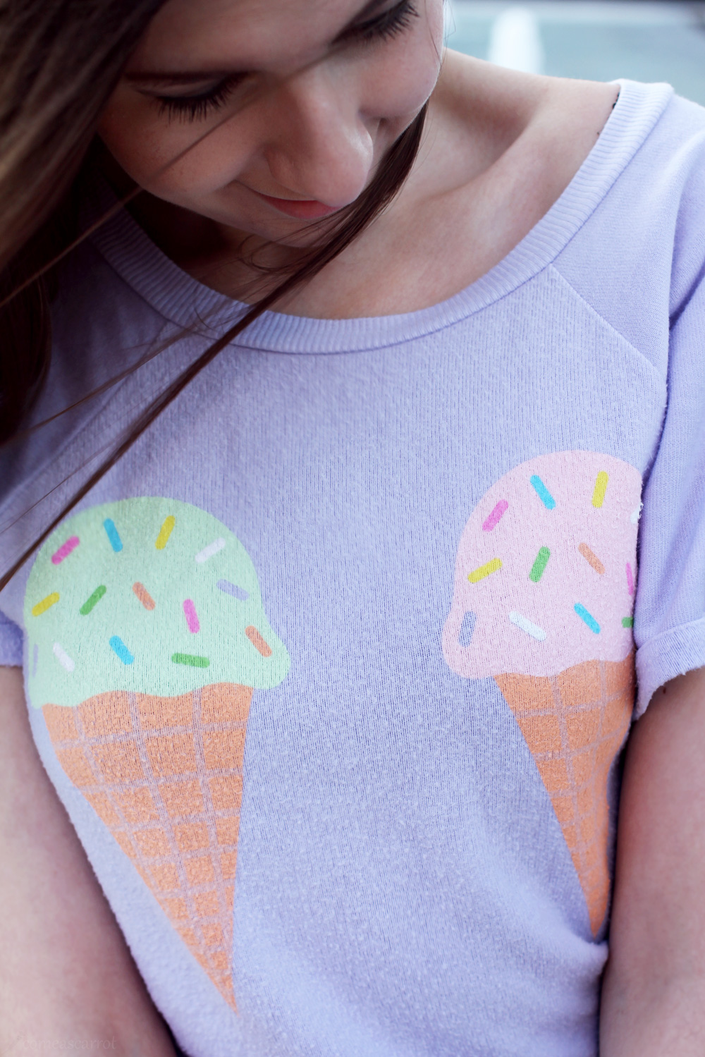 fashion blog, t-shirt, wildfox, icecream, selfie