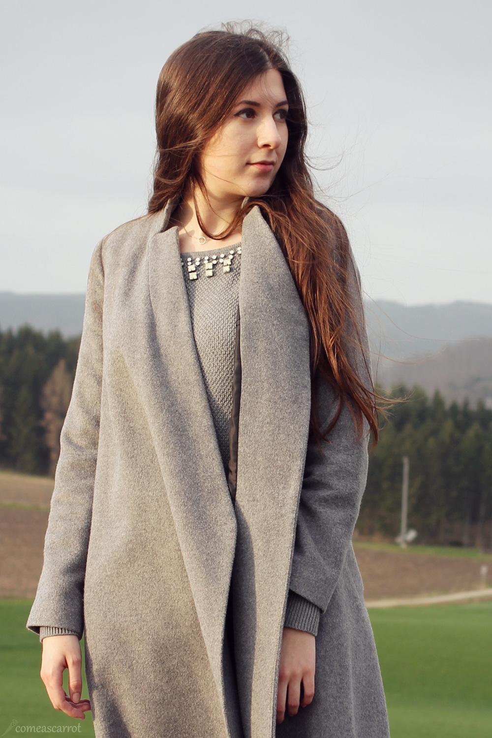 outfit, adidas superstar, black, asos, grey, midi, coat, adidas originals