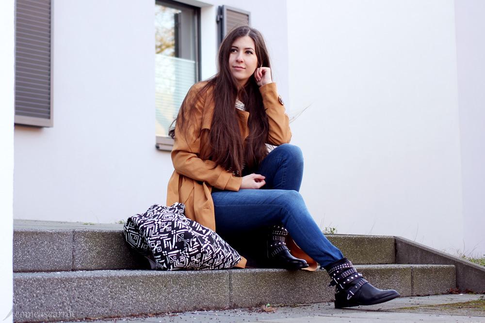 outfit, mango, bikerboots, ankleboots, mit schnallen, ausverkauft, schuhe, boots, trenchcoat, klassisch, tom tailor, midi mantel, midi coat, fashionblog, modeblog, bloggerin, blog, essen, deutschland, düsseldorf, outfit, fashion, streetstyle