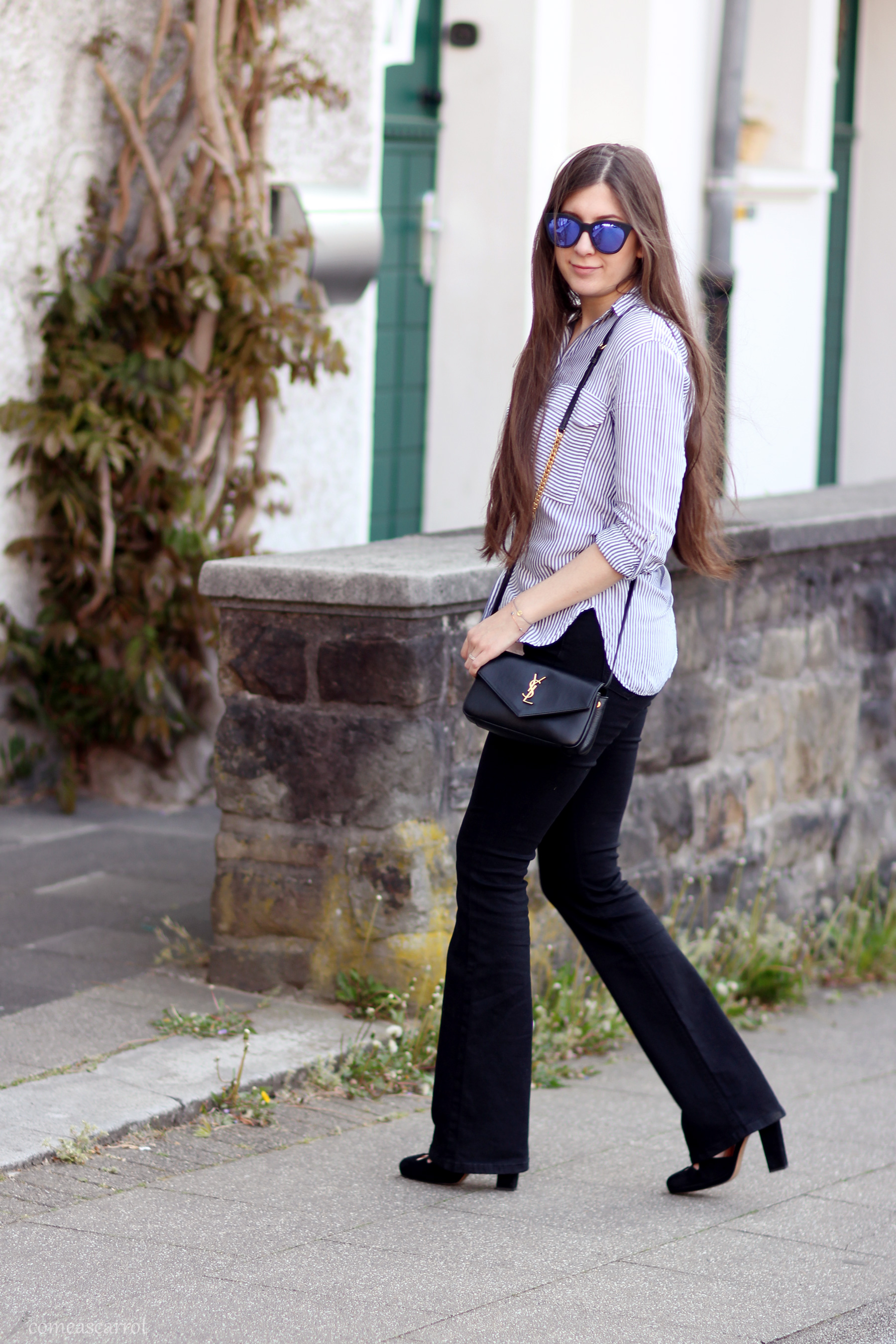 outfit, yves saint laurent, saint laurent, envelope bag, ysl, flared pants, jeans, margarethenhöhe, fashionblogger, fashionblog, deutschland, germany, blogger, fashion blog essen, ruhrgebiet, bally, heels